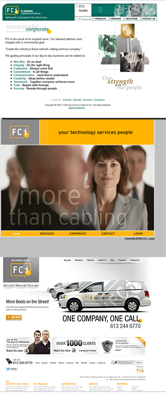History of FCi's Website